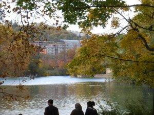 le lac au loin la cité internationale
