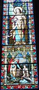 Basilique vitrail chapelle Sat Michel 3